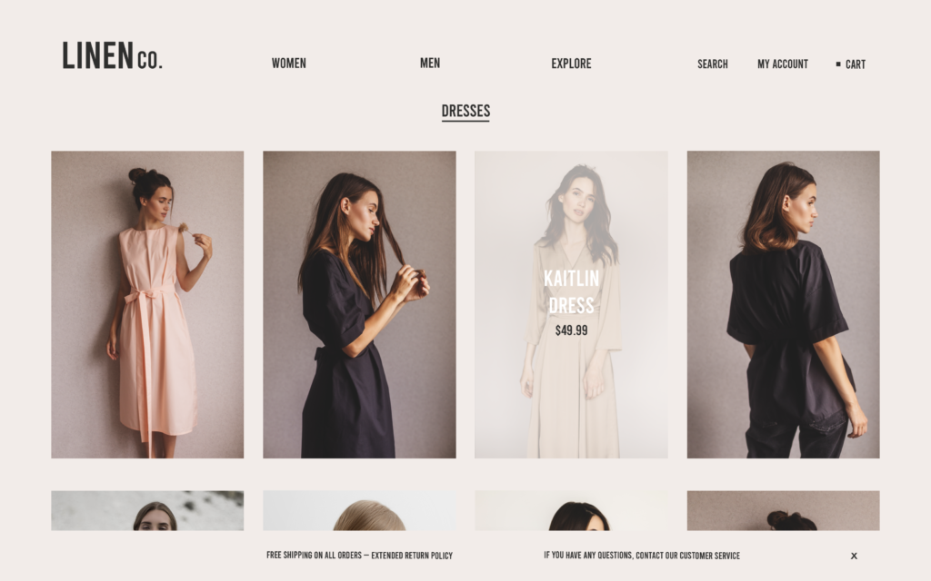 linen co website design blue whippet studio grace fussell graphic design agency manchester