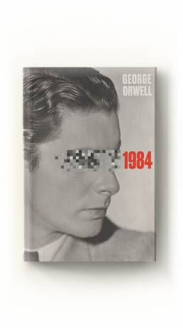 1984 george orwell book cover design blue whippet studio